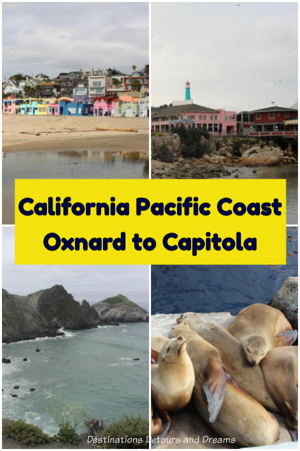 Highlights of a California coastal road trip along the Pacific Coast on Highway 1: Oxnard, San Luis Obispo County, Piedras Blancas, Point Lobos, Carmel-by-the-Sea, Monterey, Moss Landing, Capitola Village #California #roadtrip #coastalhighway