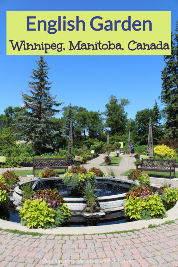 The English Garden in Assiniboine Park is a beautiful attraction in Winnipeg, Manitoba, Canada #Canada #Winnipeg #Manitoba #garden #park