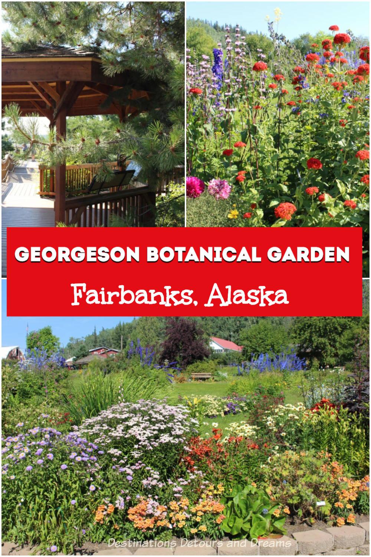 Botanical Gardens in the Heart of Alaska: Georgeson Botanical Garden in Fairbanks, Alaska #Alaska #Fairbanks #garden