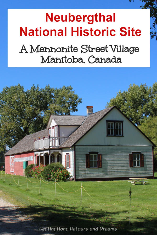 Neubergthal National Historic Site in Manitoba, Canada is an example of a traditional Mennonite street village #Canada #Manitoba #historicsite #museum #history