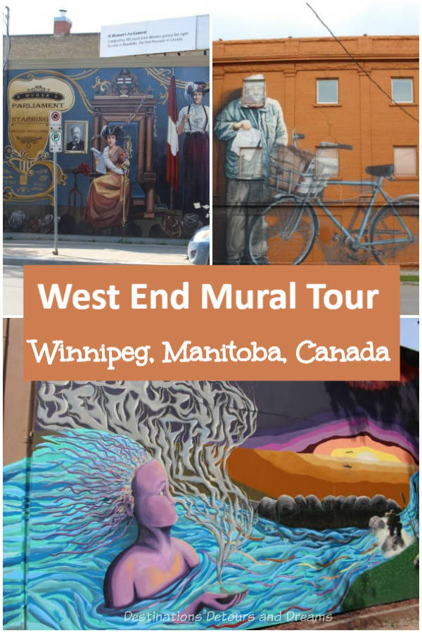 Mural Tour in Winnipeg's West End: A walking tour in the West End, a neighbourhood of Winnipeg, Manitoba, Canada known for its collection of murals. #Winnipeg #Manitoba #Canada #murals #streetart