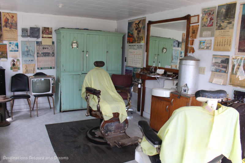Old style barber shop interior