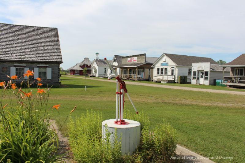 Heritage village street at Pembina Threshermen's Museum in Winkler, Manitoba