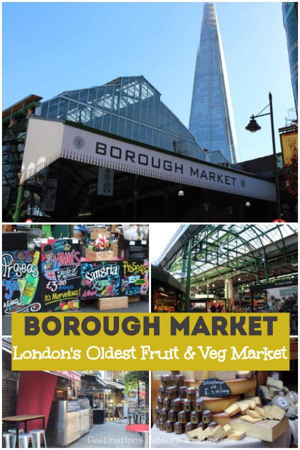 Borough Market: a London food market steeped in history; the oldest fruit and veg market in London, England