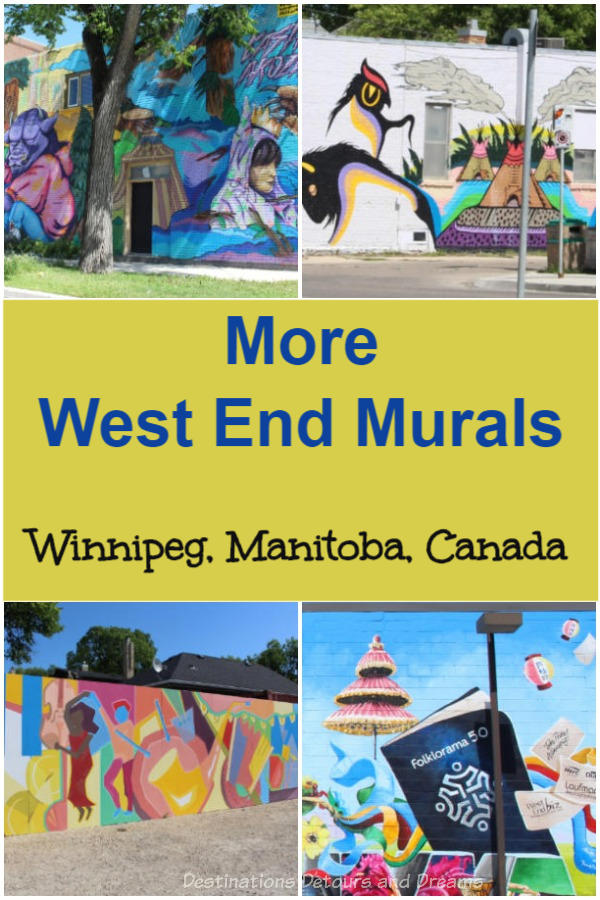 More Winnipeg West End Murals: a sampling of the large collection of murals found in the West End neighbourhood of Winnipeg, Manitoba, Canada #Winnipeg #Manitoba #art #murals