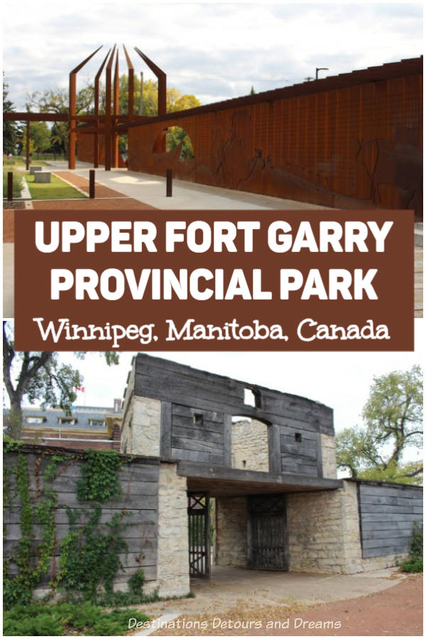 Upper Fort Garry Provincial Park in Winnipeg, Manitoba, Canada: a modern interpretation on an important historical site. Both a museum and park. #Winnipeg #Manitoba #history
