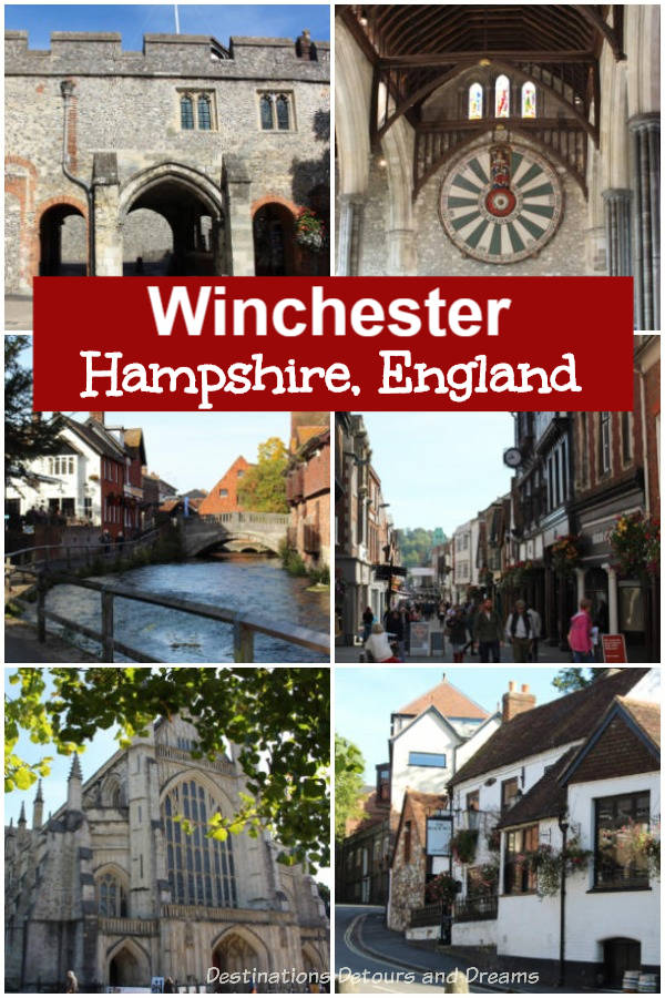 Wandering Through Winchester in Hampshire England. The medieval market city if full of history, quaint streets, interesting pubs and dining, and modern shopping. #England #Winchester