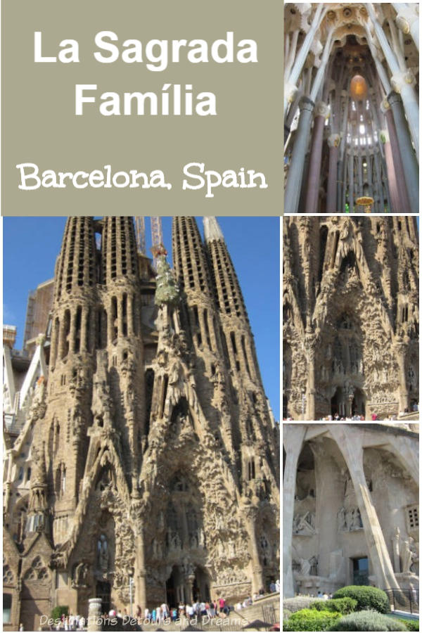 La Sagrada Família: the famous cathedral designed by architect Antoni Gaudí is a landmark in Barcelona, Spain