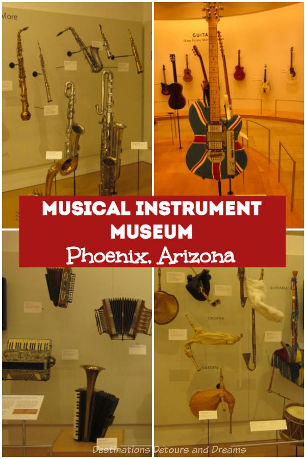 The Musical Instrument Museum in Phoenix, Arizona has a great collection of musical instruments and information. Music is the language of the soul. #Phoenix #Arizona #museum #music