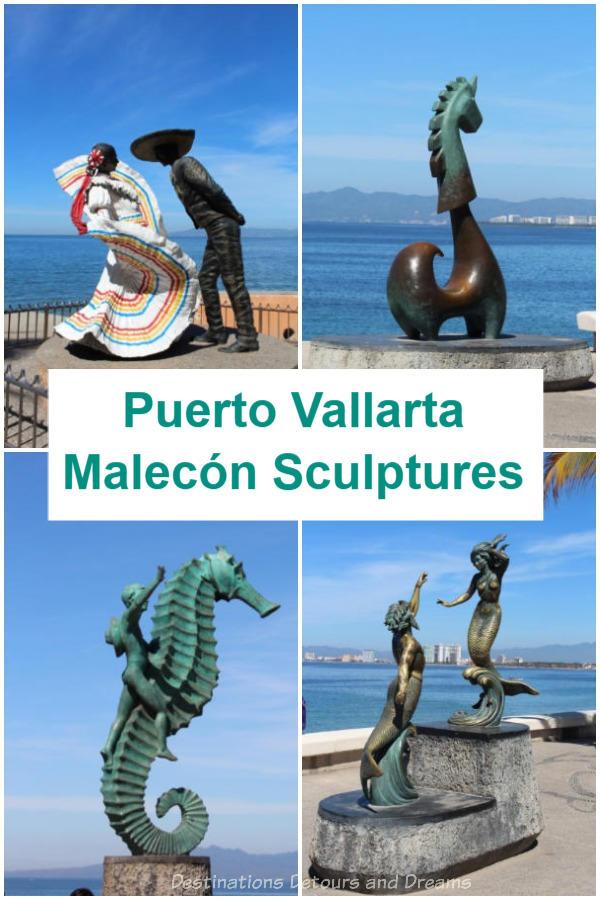 Seaside Sculptures Along the Malecón in Puerto Vallarta, Mexico #art #PuertoVallarta