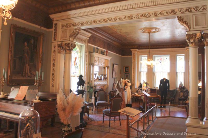 Victorian era upper-class drawing room at Craigdarroch Castle