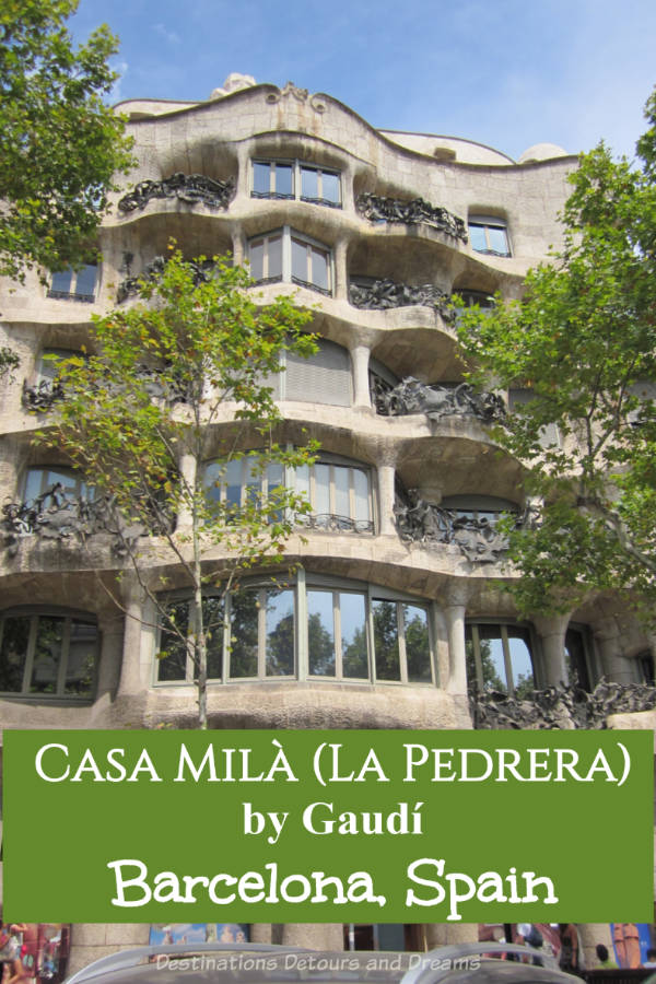A Tour of Gaudí's Casa Milà in Barcelona: UNESCO World Heritage Site Case Milà (La Pedrera) in Barcelona, Spain is one of architect Antoni Gaudí's more well-known works and a top Barcelona tourist attraction