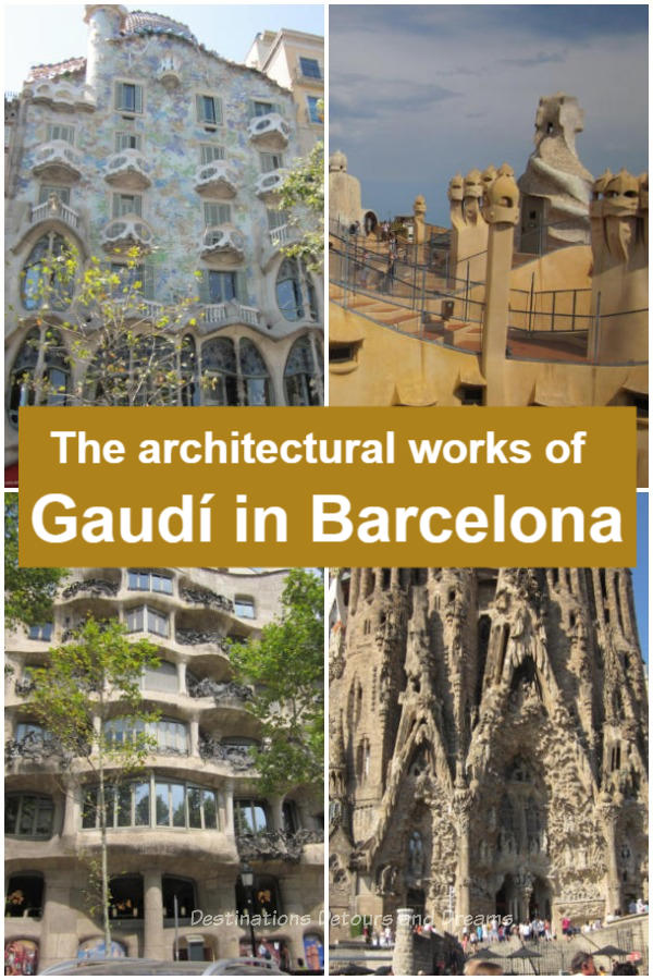 Explore Gaudí Architecture In Barcelona: The architecture of Barcelona, Spain is dominated by the works of Antoni Gaudí, many of which are top tourist attractions and UNESCO World Heritage Sites