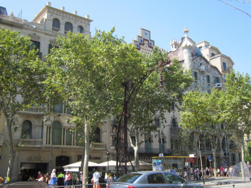 Four architecturally significant buildings in Barcelona known as the Block of Discord