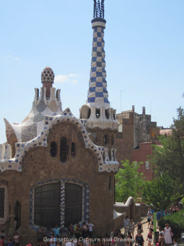 """""""Gingerbread"""" gatehouse at Park Guell"""