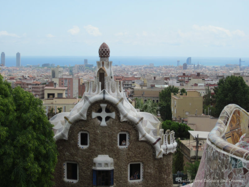 View looking over Barcelona from Park Güell