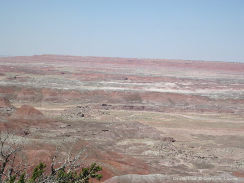 Layer coloured rock landscape of the Painted Desert