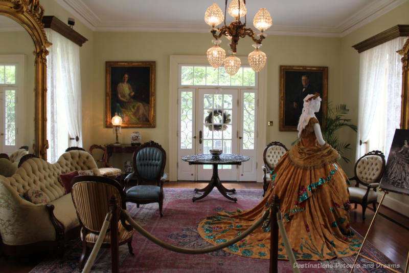Museum parlour room decorated as per late 1800s