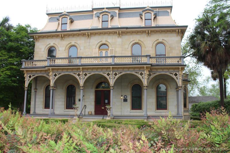Elegant three-story mansion in King William Heritage District in San Antonio