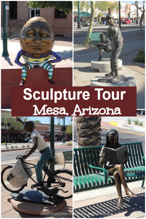 Downtown Mesa Sculpture Tour: about the sculptures to be found in the compact downtown area of Mesa, Arizona