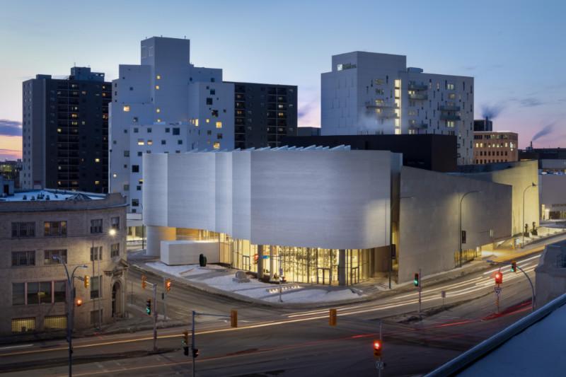 Qaumajug, the Inuit art centre at the Winnipeg Art Gallery. Michael Maltzan Architecture with associate Cibinel Architecture. Photo Lindsay Reid.