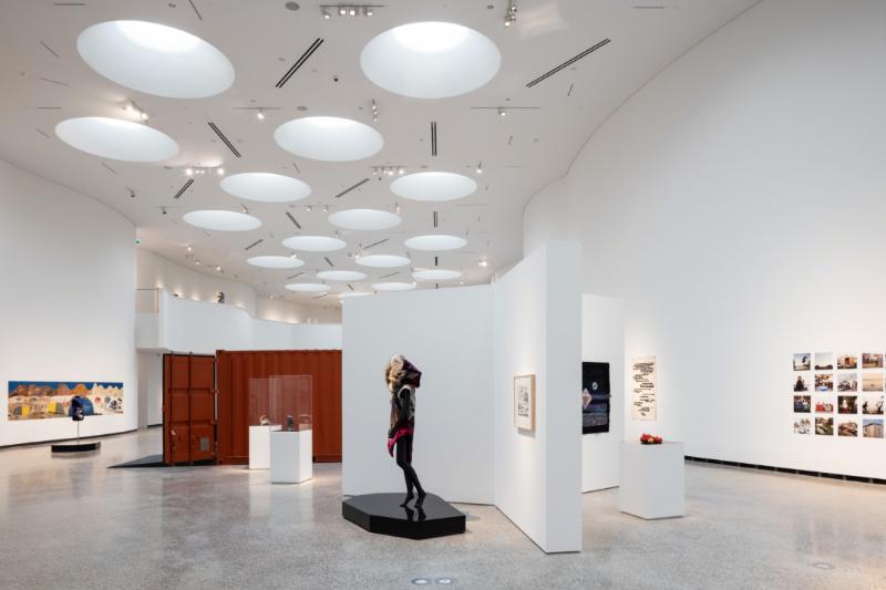 Qilak, Main Inuit Gallery, Qaumajuq, the Inuit art Centre at the Winnipeg Art Gallery. Photo by Lindsay Reid