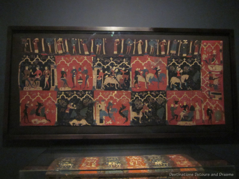 14th century tapestry showing episodes from the romance of Tristan and Isolde