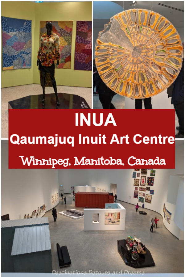 INUA: The inaugural exhibition at Qaumajuq Inuit Art Centre in Winnipeg, Manitoba, Canada features a diverse collection of art by over 90 Inuit artists