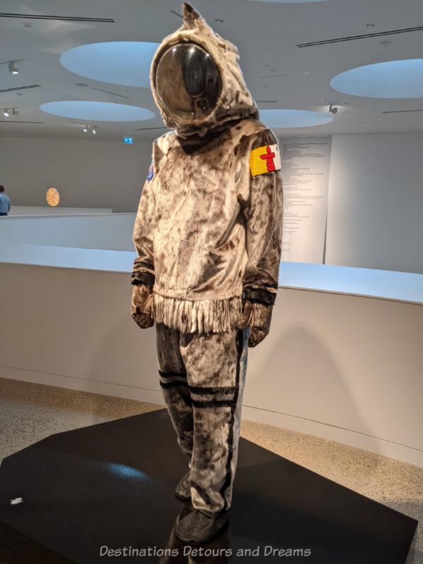 Sealskin space suit by Jesse Tunglik