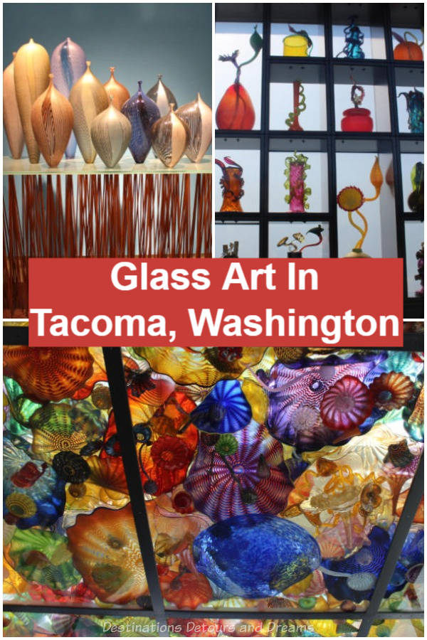 Tacoma, Washington (City of Glass) is full of glass art. The birthplace of Dale Chihuly features a number of his blown glass works. There is a museum dedicated to glass art and art pieces can be found in other museums and public spaces.
