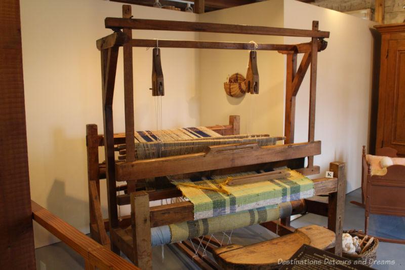 Weaving loom circa 1880 at Saint Boniface Museum