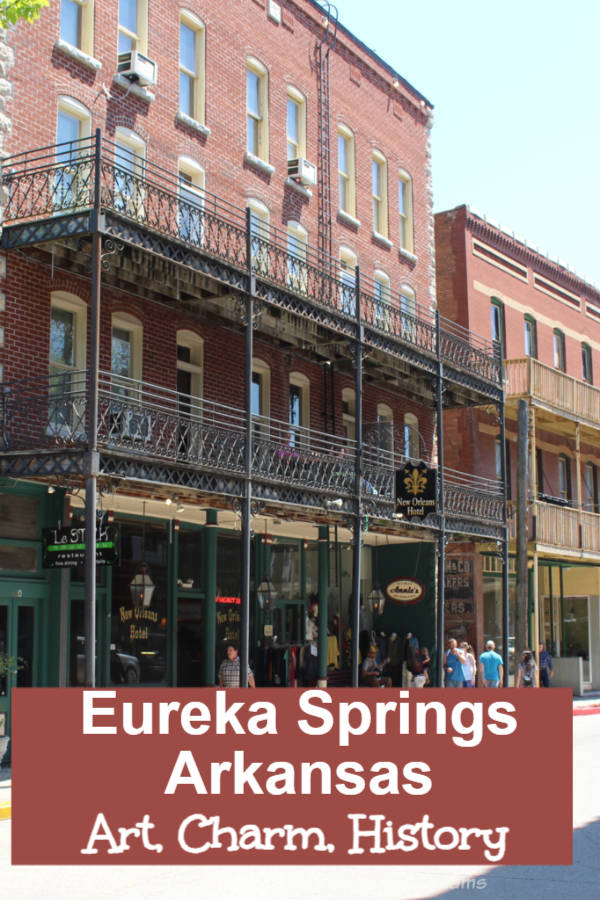 Find art, charm, and history in Eureka Springs, Arkansas: Victorian buildings, historic landmarks, one-of-a-kind shops and scenic Ozarks beauty