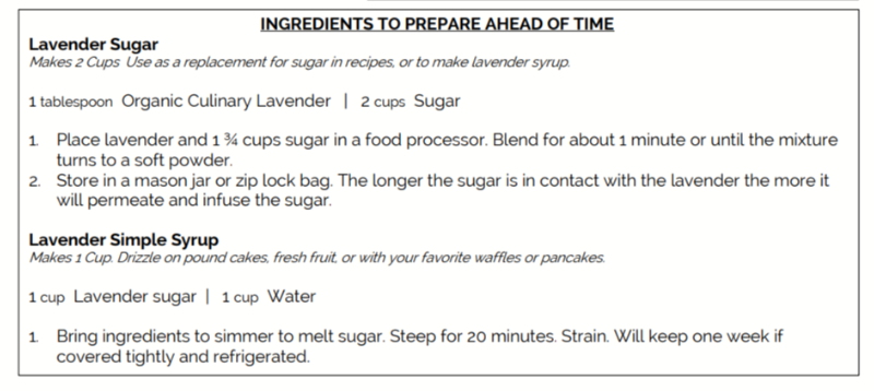 Recipes for Lavender Sugar and Lavender Simple Syrup