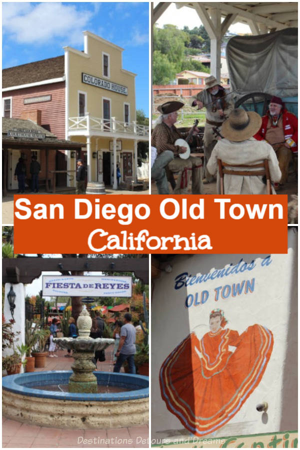 The Birthplace of California: Old Town Diego in San Diego, California has historic sites, museums, and modern shops, restaurants, Mexican flair, and entertainment