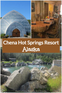 More Than Healing Waters At Chena Hot Springs Resort: Chena Hots Springs Resort, located north of Fairbanks in Alaska's interior, offers swimming in a natural hot mineral spring, nature activities, dog-sledding, an ice museum, and relaxation and dining in a comfortable rustic resort.