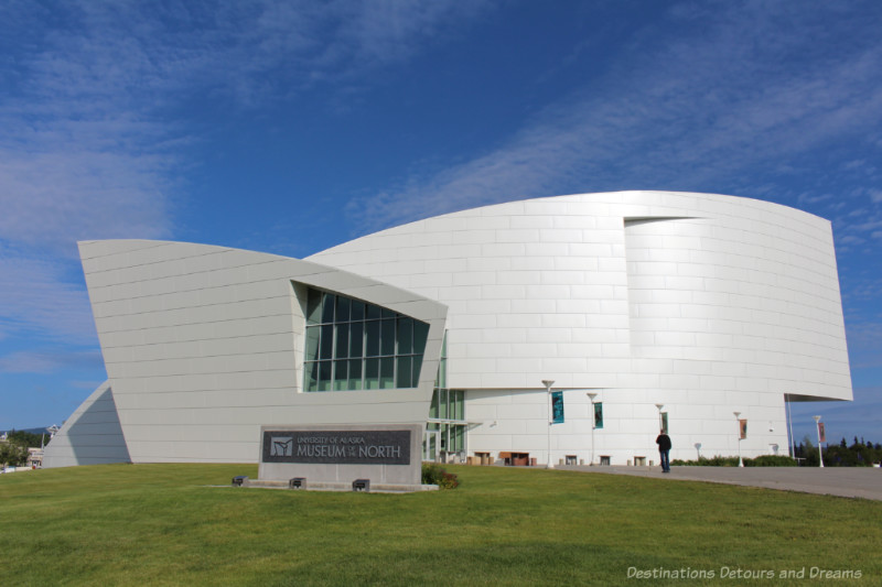 White building with curved lines - Museum of the North in Fairbanks, Alaska