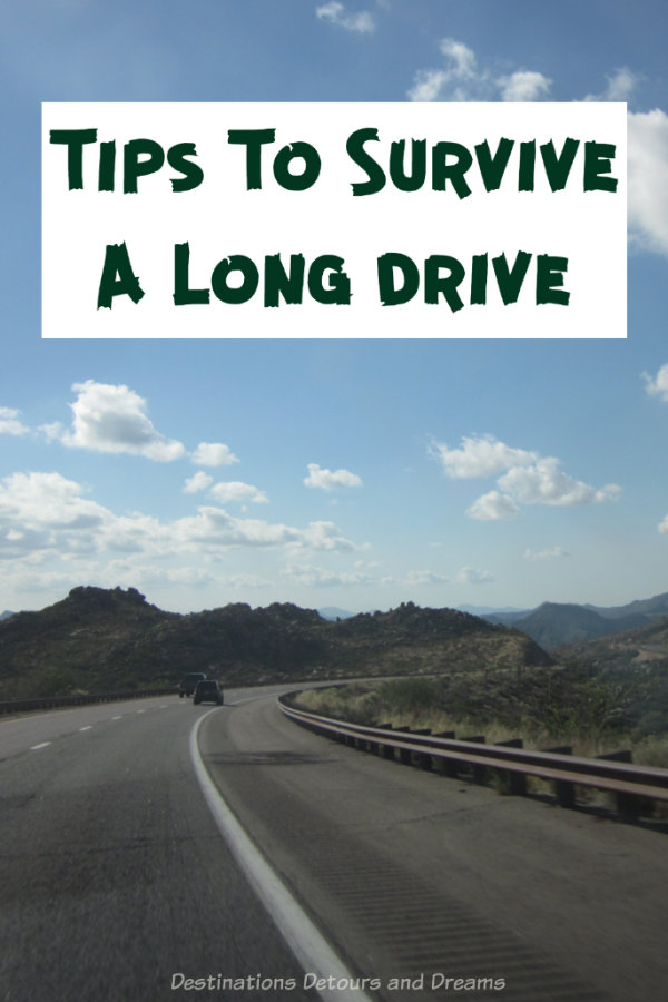 Tips To Survive A Long Drive: how to make a long car trip to get from point a to point b more comfortable