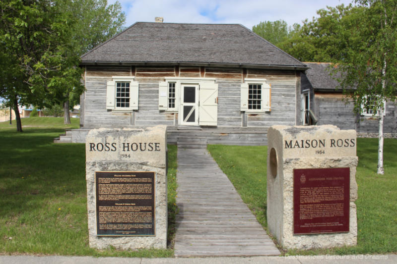 Wooden 19th century house now a museum