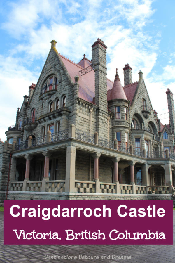 Craigdarroch Castle, a restored Victorian mansion in Victoria, British Columbia, Canada, now a house museum, portrays upper-class life at the time and showcases the role the house played in the history of the city.