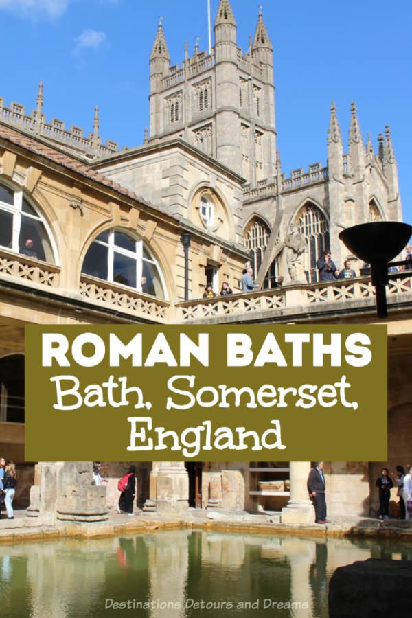 Roman Baths Museum in Bath, Somerset, England: explore Britain's Roman period at temple ruins