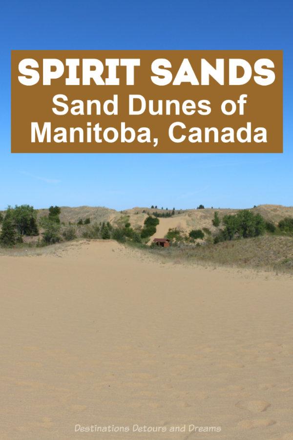 Sand Dunes in Manitoba - Visiting the sand dunes of Spirit Sands in Manitoba, Canada on a horse-drawn wagon ride. #Manitoba  #SpiritSands #Parkland