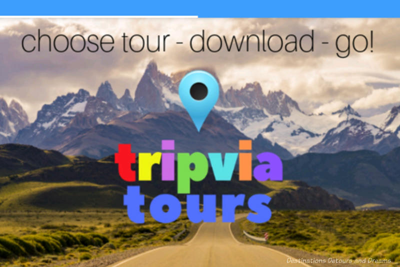 Screenshot of the Tripvia Tours app front page