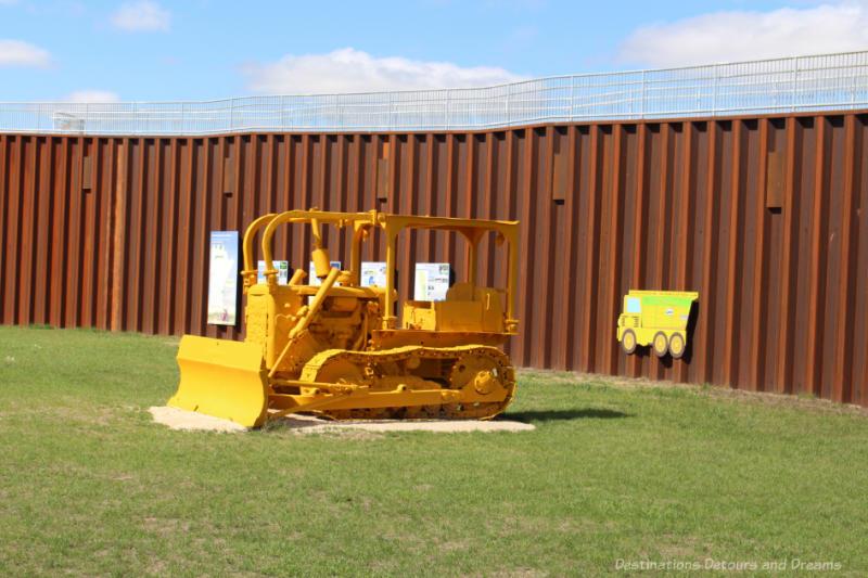 Yellow 1960s era bulldozer