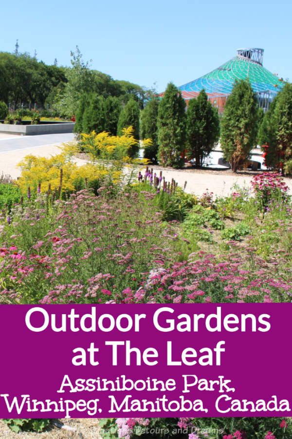 Gardens At The Leaf: The Assinboine Park Gardens at the Leaf in Winnipeg, Manitoba, Canada: a series of outdoor gardens celebrating diversity through plants