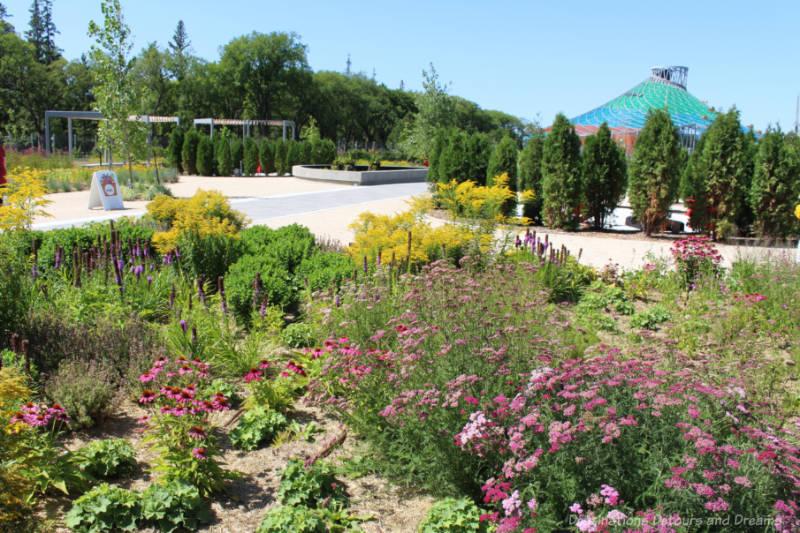 Outdoor gardens at The Leaf in Assinboine Park, Winnipeg, Manitoba, Canada