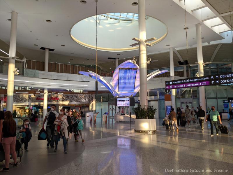 Inside an airport terminal