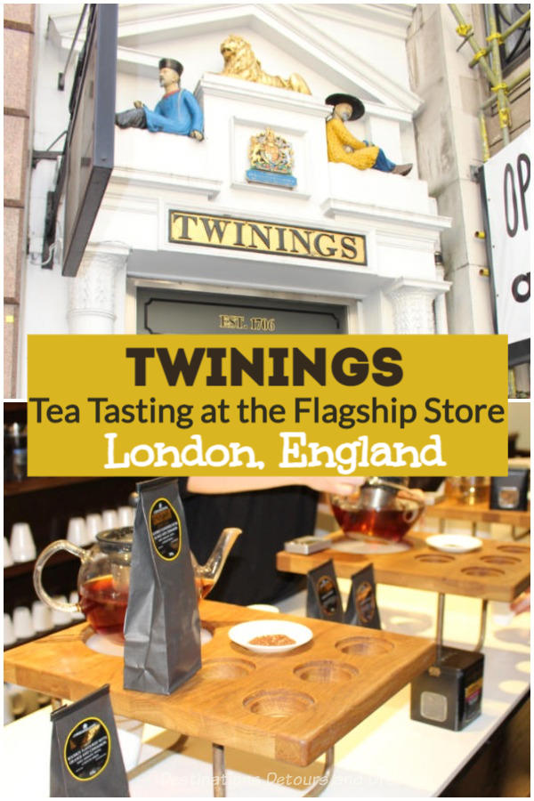 Twinings Tea Tasting In London: Sampling teas at the oldest shop in the City of Westminster, Twinings flagship store on The Strand in central London, England