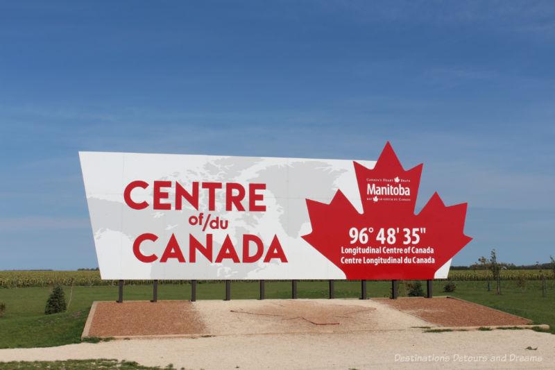 Longitudinal Centre of Canada Sign