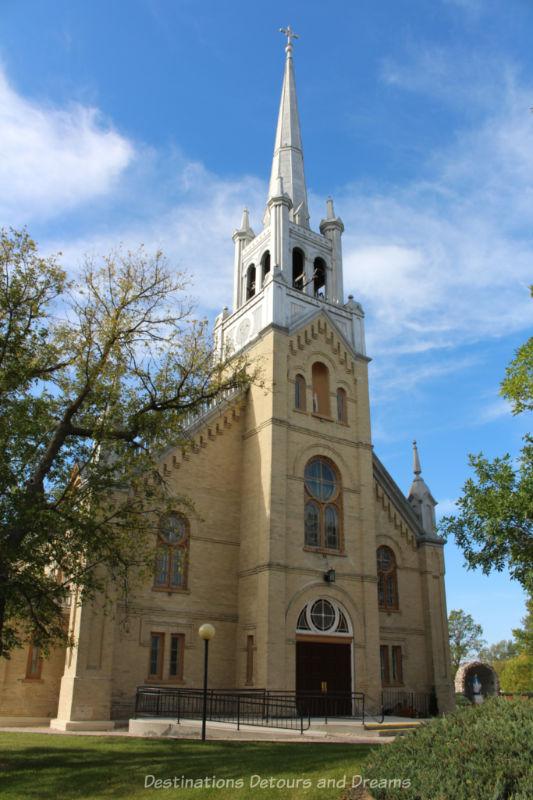 Stone Romanesque-style church