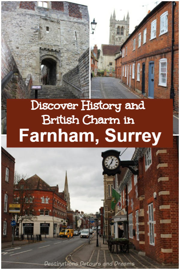 History and British charm in Farnham, Surrey: Exploring the heritage of a historic market town on the western edges of Surrey, England